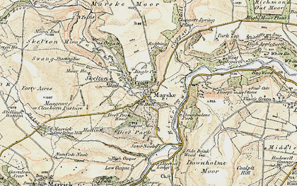 Old map of Marske in 1904