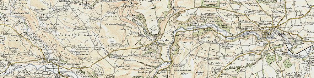 Old map of Marske in 1904