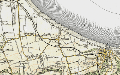 Old map of Marske-By-The-Sea in 1903-1904