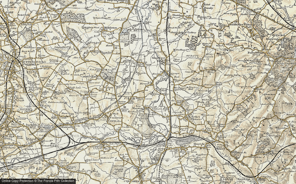 Old Map of Marston, 1901-1902 in 1901-1902