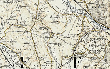 Old map of Yarlet in 1902