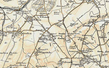 Old map of Wilton Down in 1897-1899