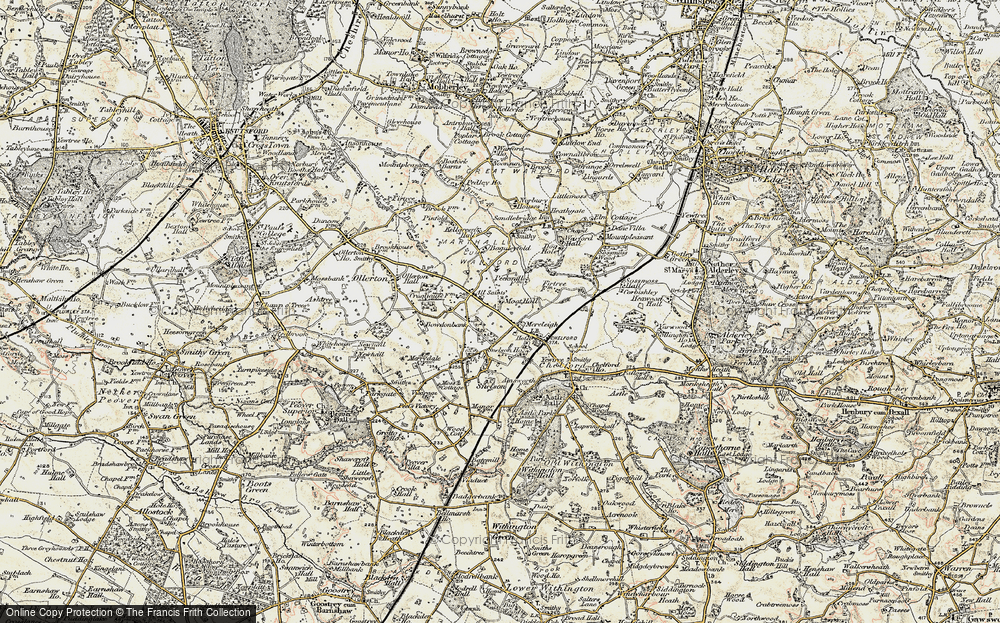 Old Map of Historic Map covering Baguley Fold in 1902-1903