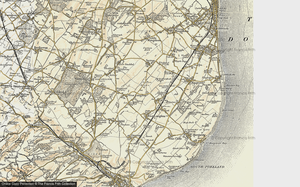 Old Map of Historic Map covering Appleton Manor in 1898-1899