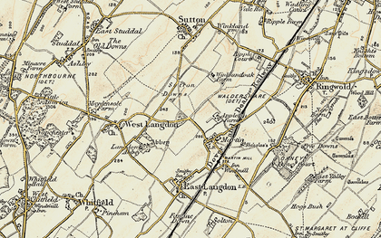 Old map of Appleton Manor in 1898-1899