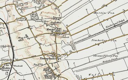 Old map of Linwood Moor in 1902-1903