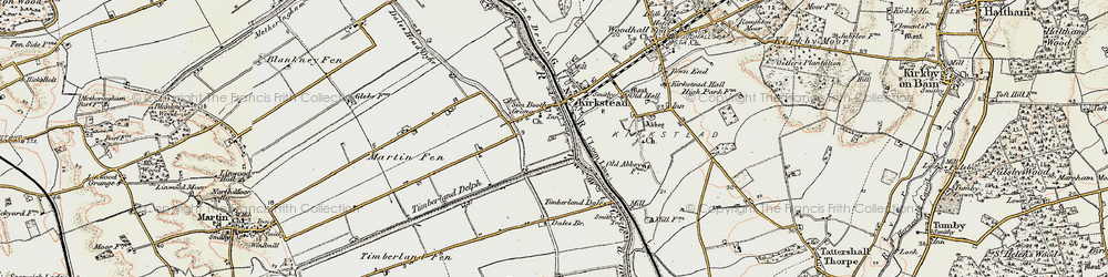 Old map of Timberland Dales in 1902-1903