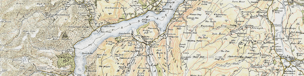 Old map of Winter Crag in 1901-1904