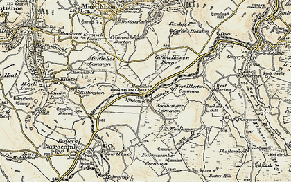 Old map of Woody Bay Sta in 1900
