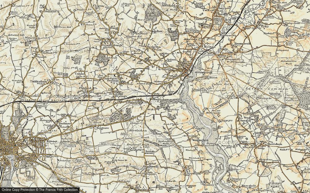 Old Map of Martlesham, 1898-1901 in 1898-1901