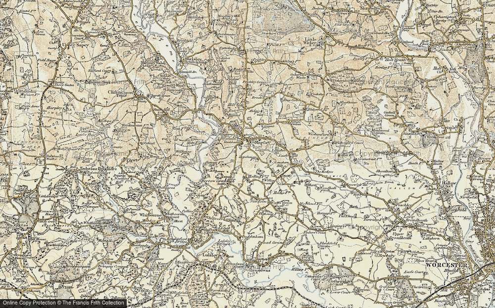 Old Map of Martley, 1899-1902 in 1899-1902