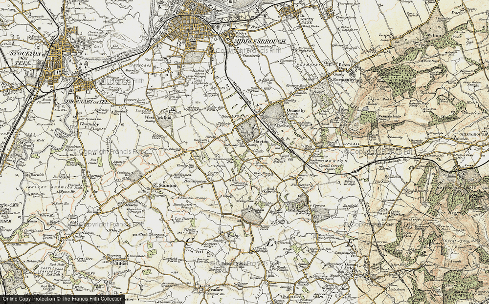 Old Map of Marton, 1903-1904 in 1903-1904