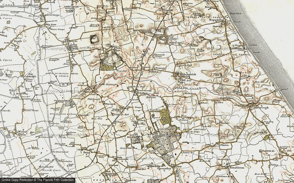 Old Map of Marton, 1903-1908 in 1903-1908