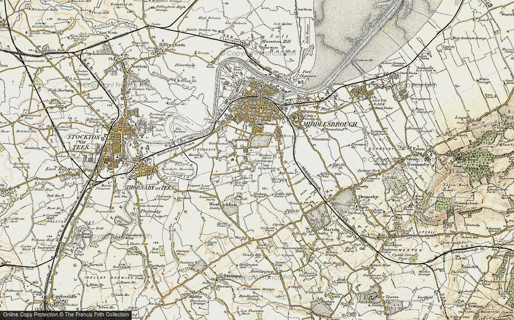 Old Map of Marton Grove, 1903-1904 in 1903-1904