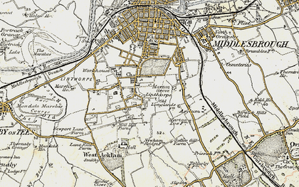 Old map of Marton Grove in 1903-1904
