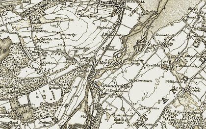 Old map of Tollie in 1911-1912