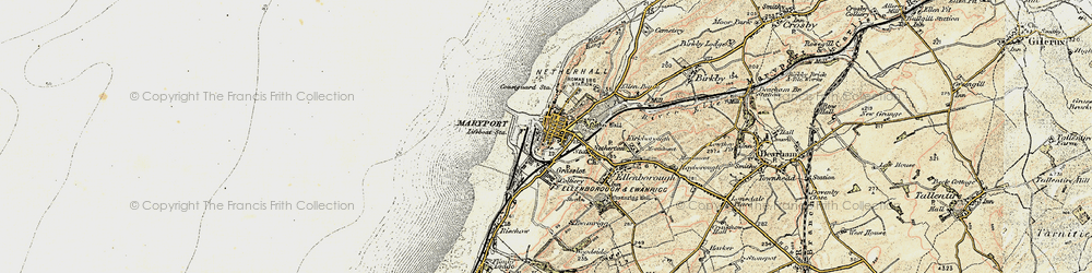 Old map of Maryport in 1901-1905