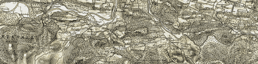 Old map of Allencreich in 1908-1909