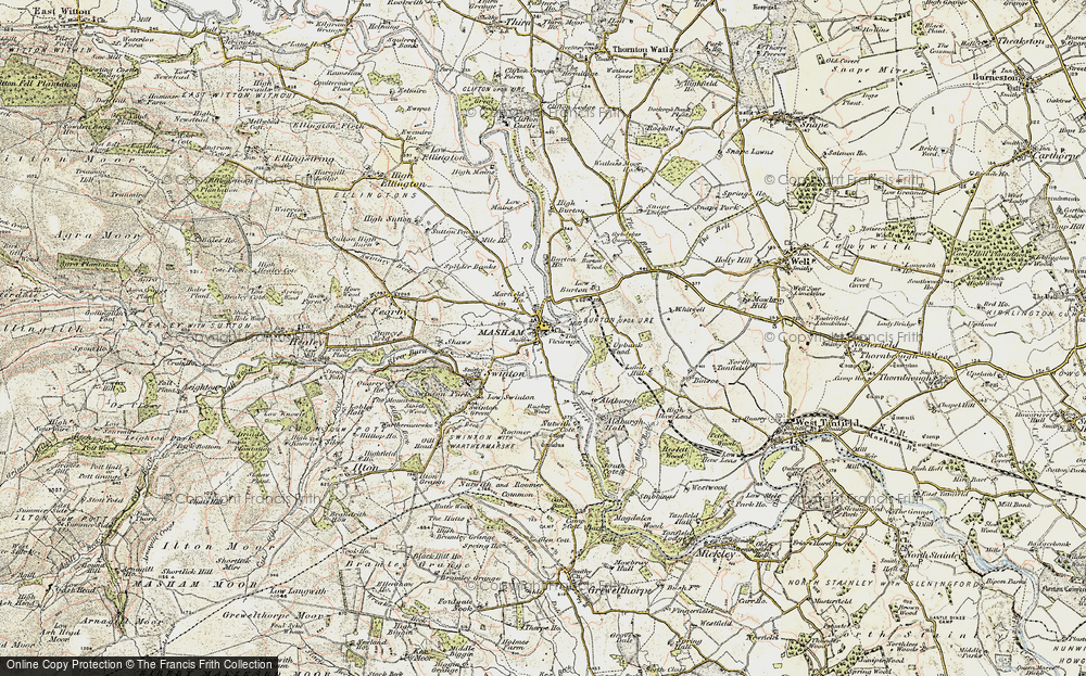 Old Map of Historic Map covering Aldburgh Hall in 1903-1904