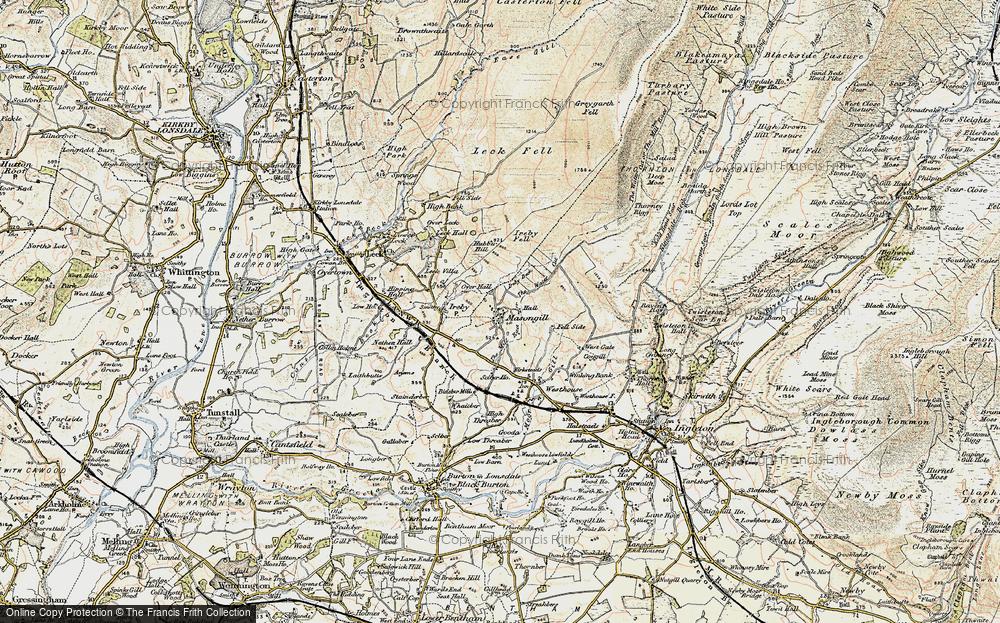 Old Map of Masongill, 1903-1904 in 1903-1904