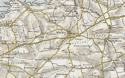 Old map of Y Craig in 0-1912