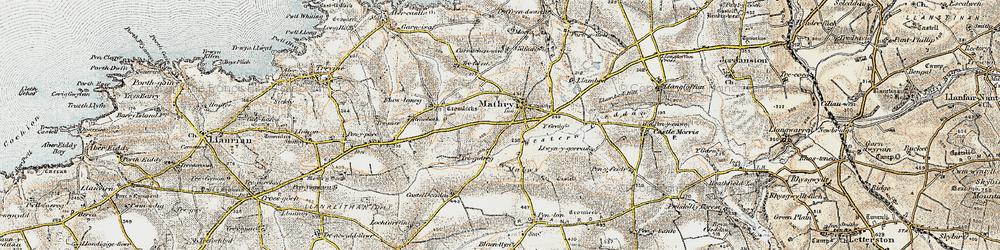 Old map of Western Cleddau in 0-1912