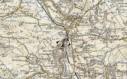 Old map of Matlock in 1902-1903