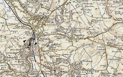 Old map of Matlock Cliff in 1902-1903