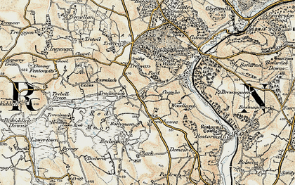 Old map of Maudlin in 1900