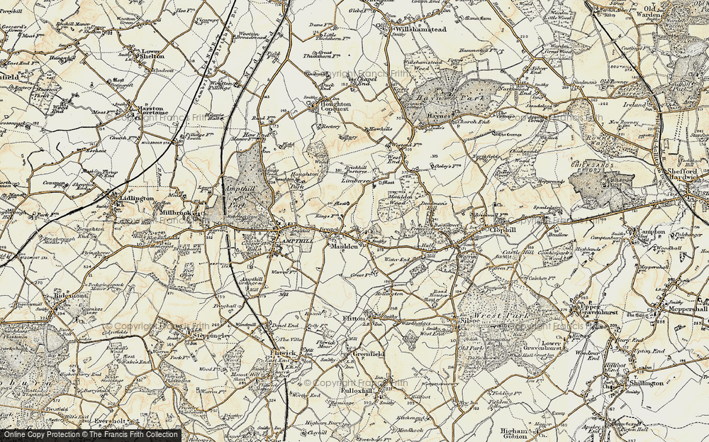 Old Map of Maulden, 1898-1901 in 1898-1901