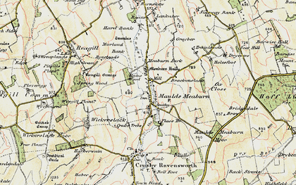 Old map of Lankaber in 1901-1904