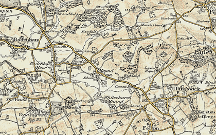 Old map of Westfields in 1899-1901