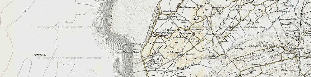 Old map of Allerdale Ramble in 1901-1905