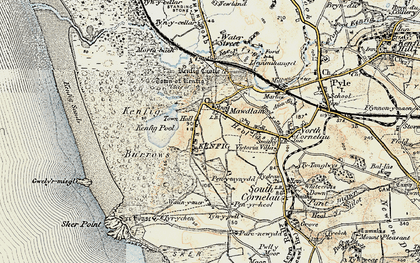 Old map of Mawdlam in 1900-1901