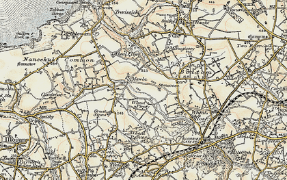 Old map of Mawla in 1900
