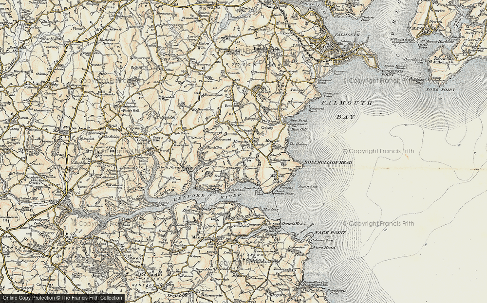 Old Map of Mawnan Smith, 1900 in 1900
