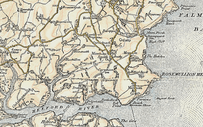 Old map of Mawnan Smith in 1900