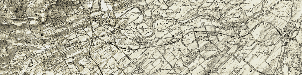 Old map of Lilliardsedge in 1901-1904