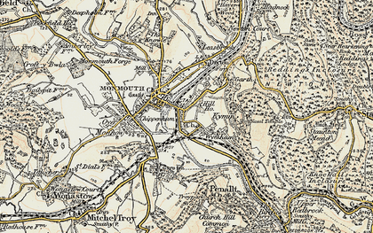 Old map of Dixton in 1899-1900