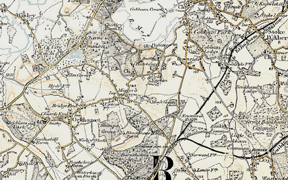 Old map of May's Green in 1897-1909