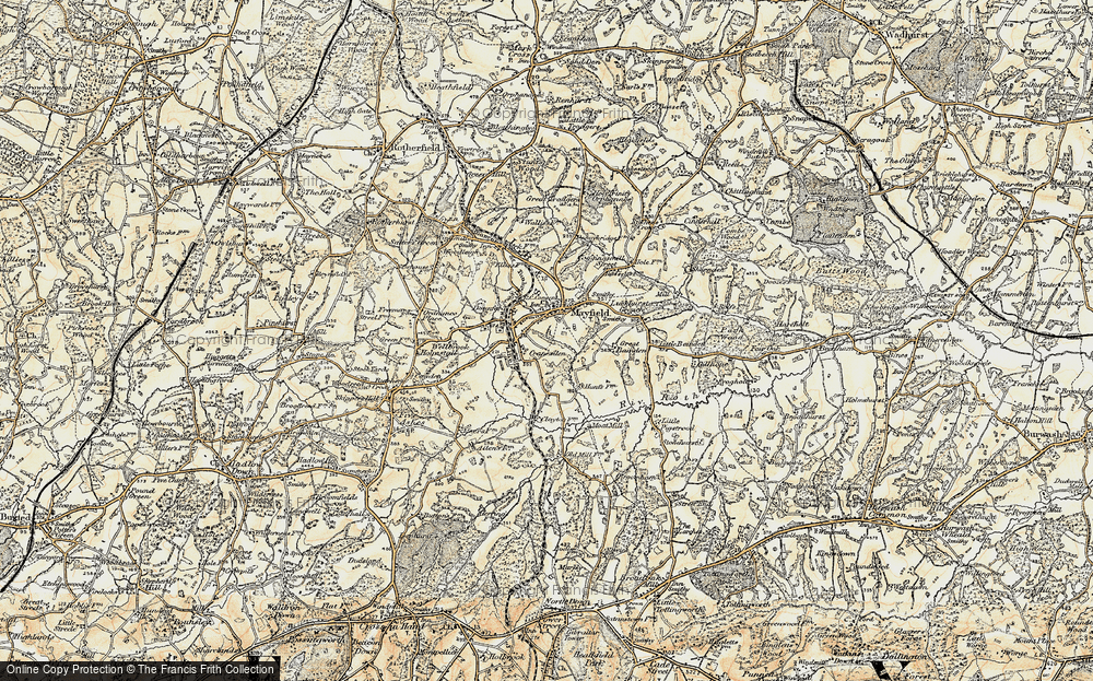 Old Map of Mayfield, 1898 in 1898