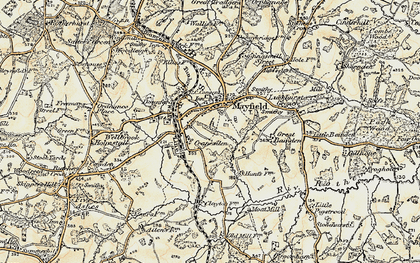 Old map of Mayfield in 1898