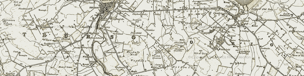 Old map of Weydale in 1912