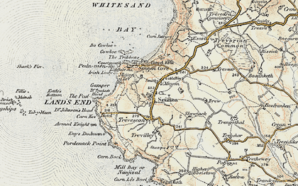 Old map of Mayon in 1900