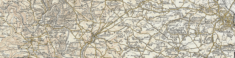 Old map of Whistley Hill in 1899