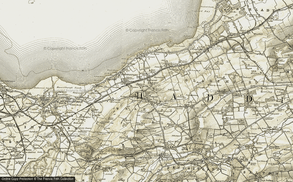 Old Map of Historic Map covering Bankton in 1903-1904