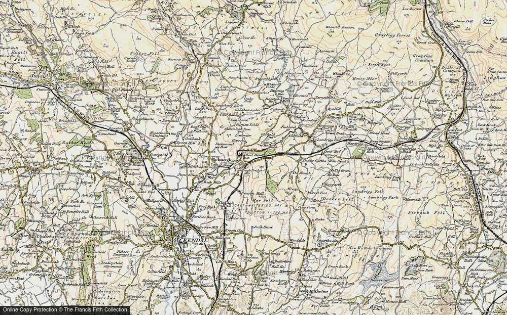 Old Map of Historic Map covering Laverock Bridge Ho in 1903-1904