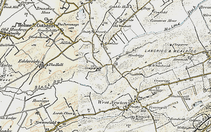 Old map of Aikshaw in 1901-1904
