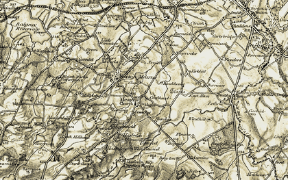Old map of Mearns in 1904-1905