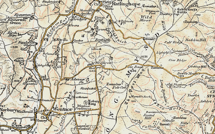 Old map of Adstone Hill in 1902-1903